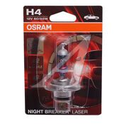 "Лампа 12 В, Н4,  60/55 Вт, P43t ""OSRAM"" +130% NIGHT BREAKER LASER [64193NBL]  блистер"
